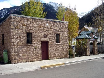 The old jail in Telluride.  Built in 1885, it began as the town's library.