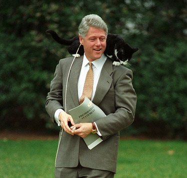 bill-clinton-mit-kater-socks
